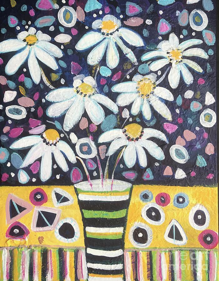Daisy Painting - You Only Have One Life by Jacqui Hawk