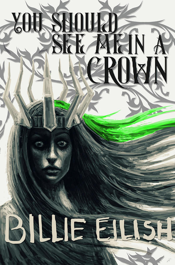 Music Digital Art - You Should See Me in a Crown Song Art Print by Ink Well