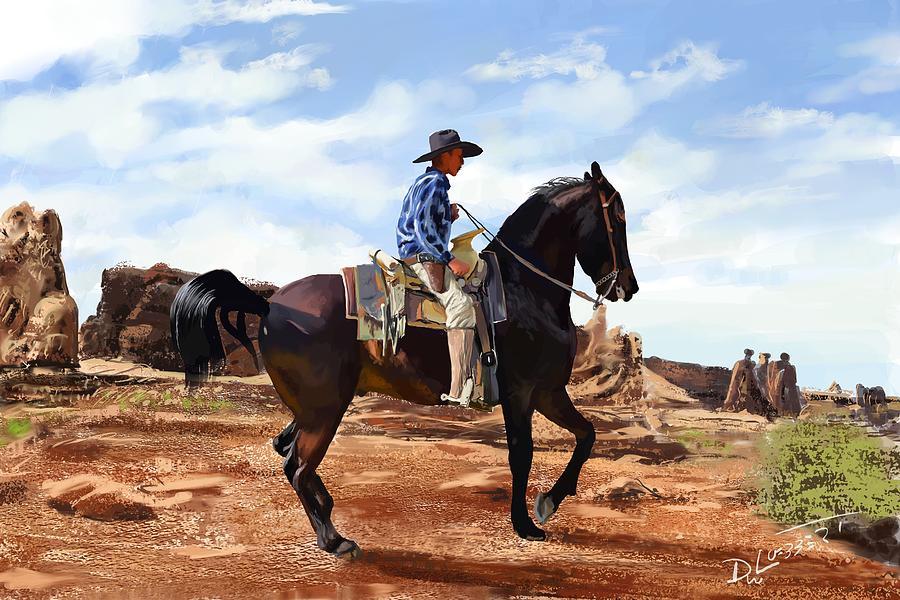 Young Desert Cowboy by David Luebbert