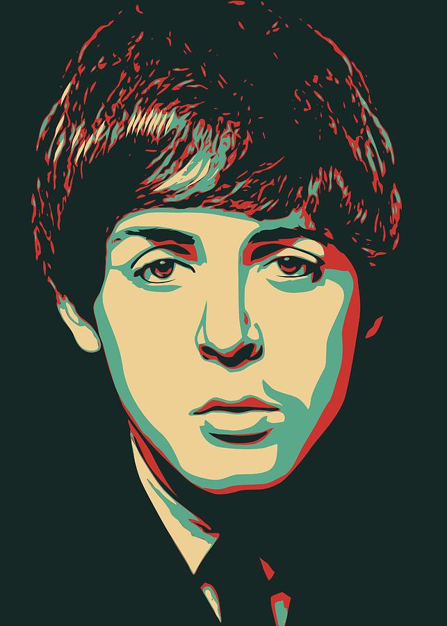 Young John Lennon Digital Art By Yafi Veda