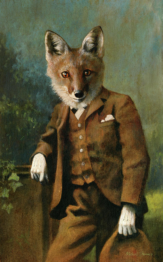 Young Master Fox Painting