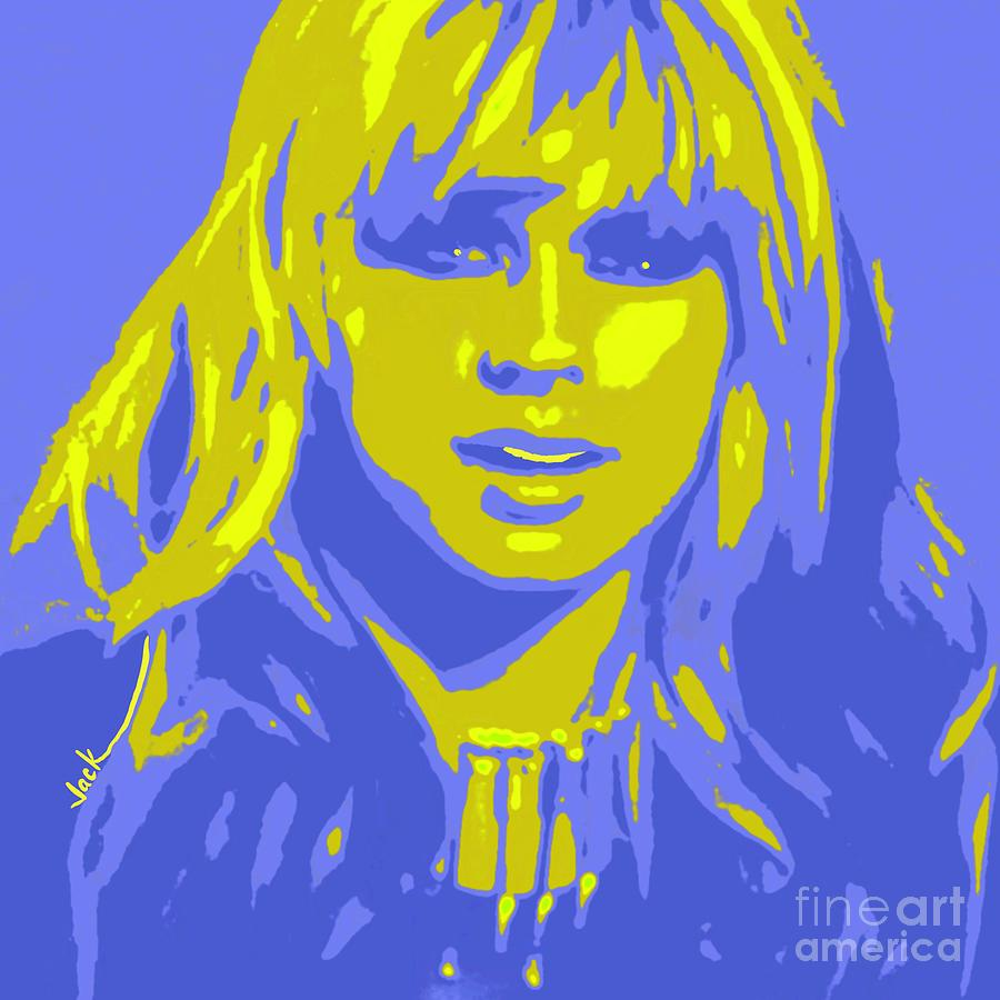 Orianthi Painting - Young Orianthi by Jack Bunds