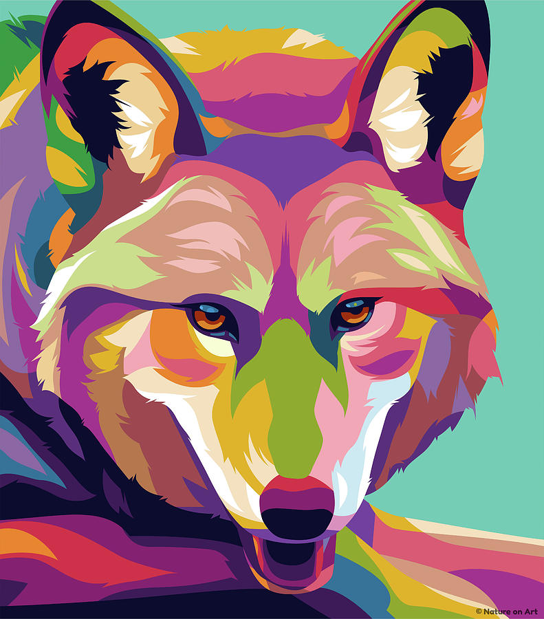 Young Wolf Digital Art