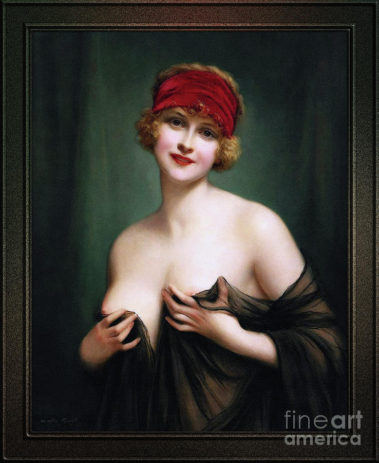 Young Woman In A Negligee by Francois Martin-Kavel by Xzendor7