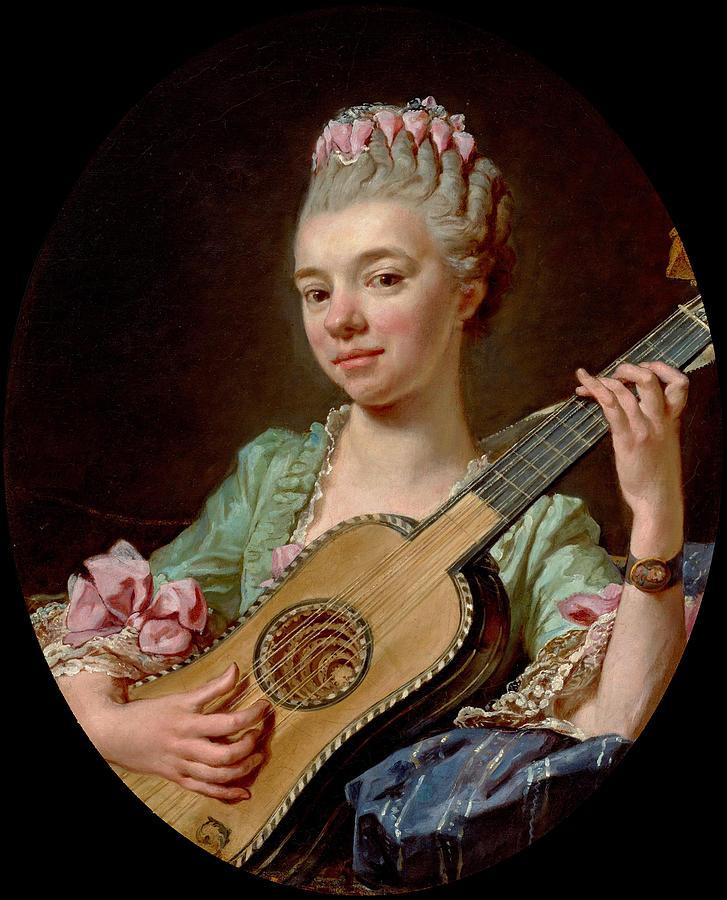 Ca s'est passé en juillet ! Young-woman-with-a-guitar-jean-bernard-restout