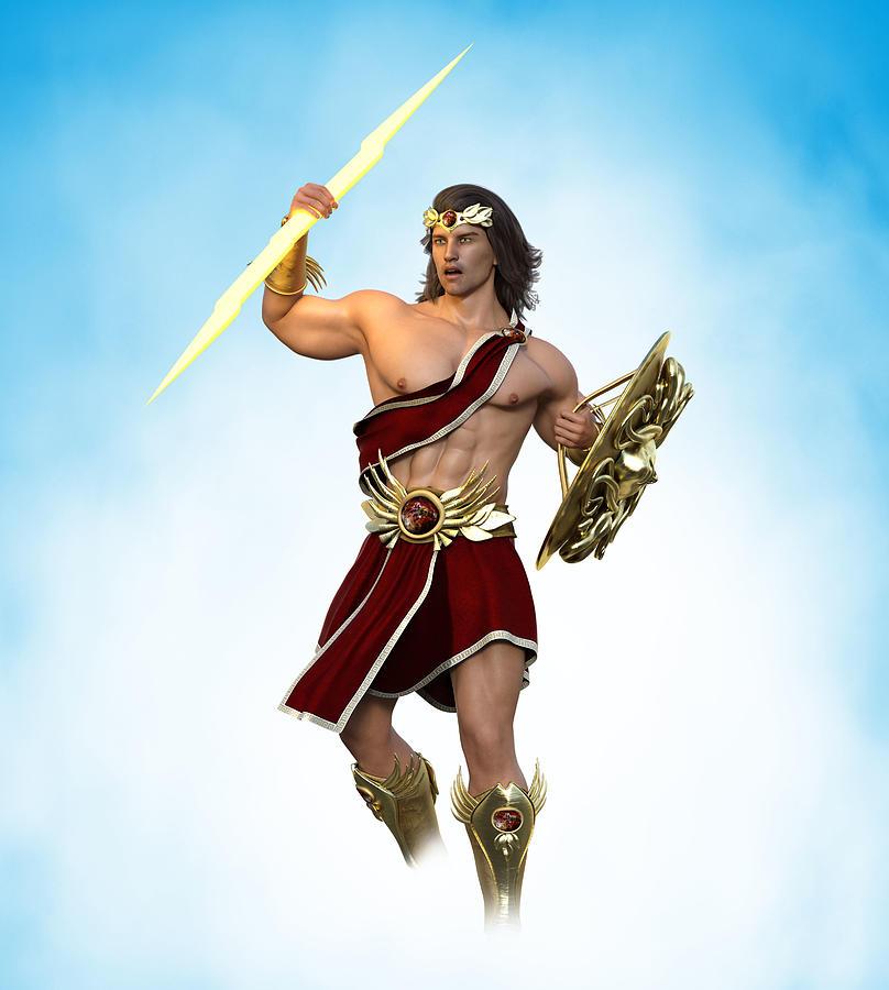 Young Zeus God Of Greek Mythology 2 Digital Art