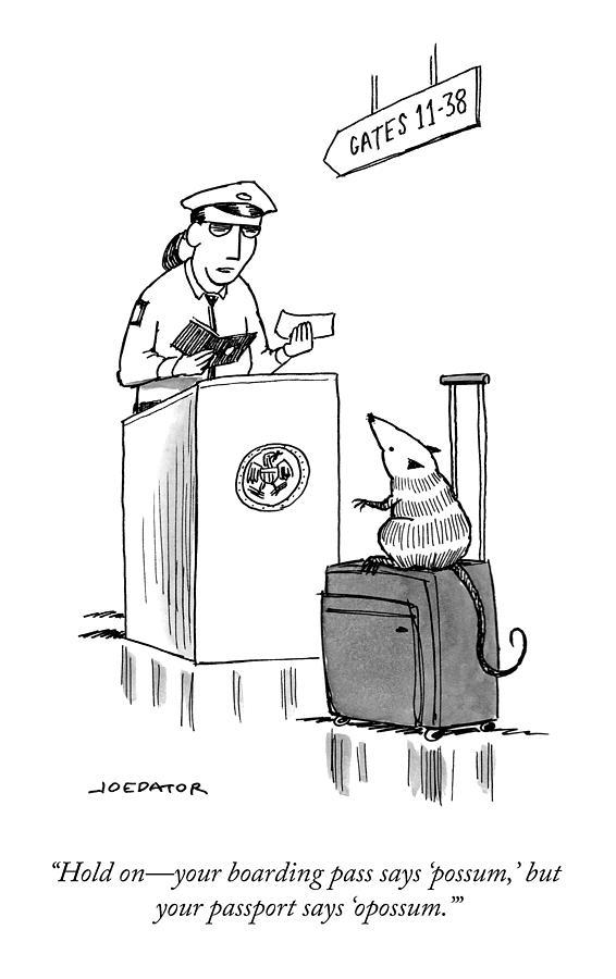 Your Boarding Pass Drawing by Joe Dator