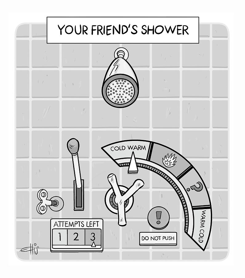 Your Friends Shower Drawing by Ellis Rosen