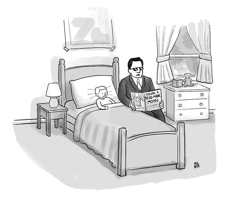 Youre A Dead Man, Moon Drawing by Paul Noth
