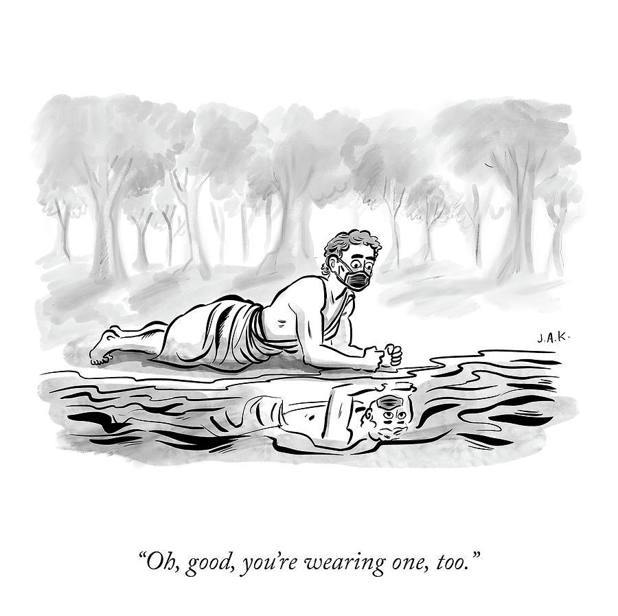 Youre Wearing One, Too Drawing by Jason Adam Katzenstein