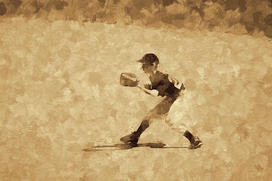 Youth Baseball Fielder Abstract Photograph