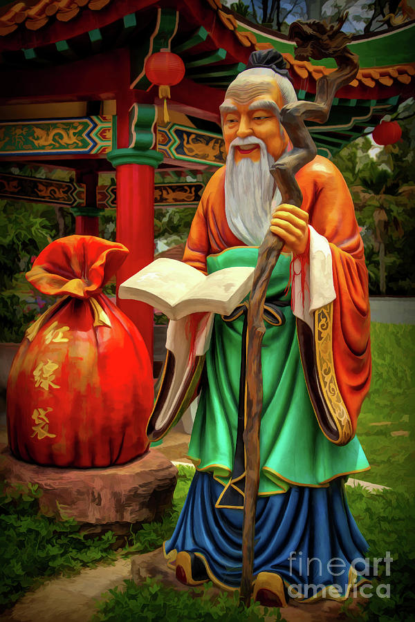Yue Lao Statue by Adrian Evans