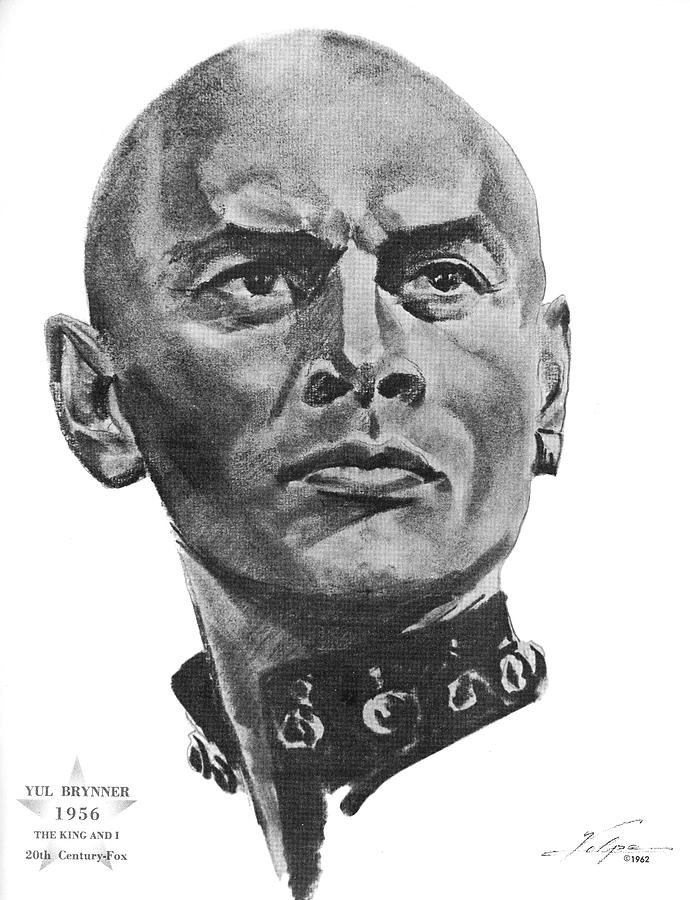 Yul Brynner By Volpe Drawing