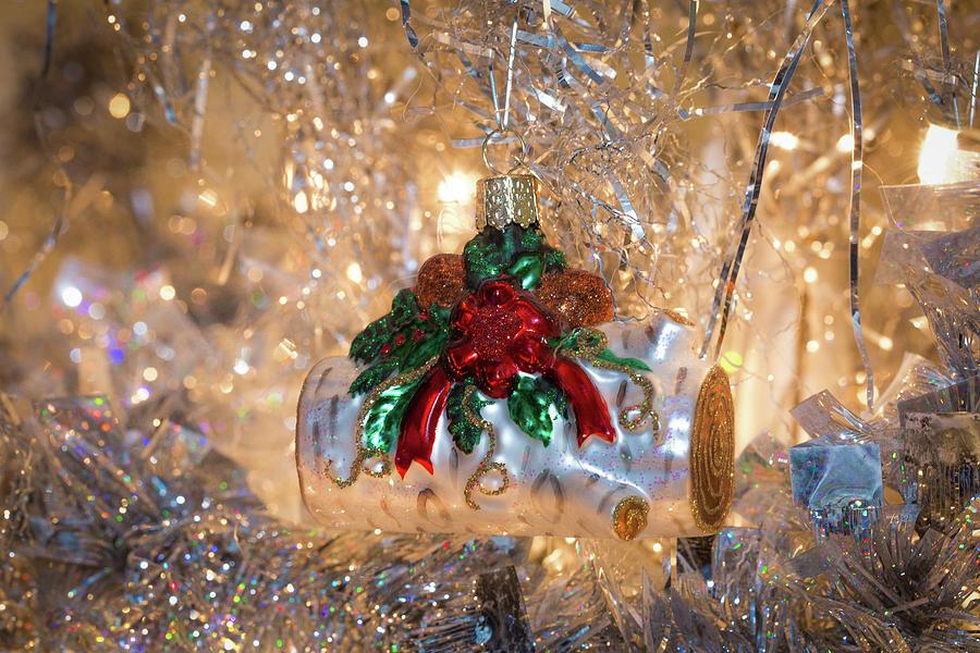 Yule Log Ornament by Lora J Wilson