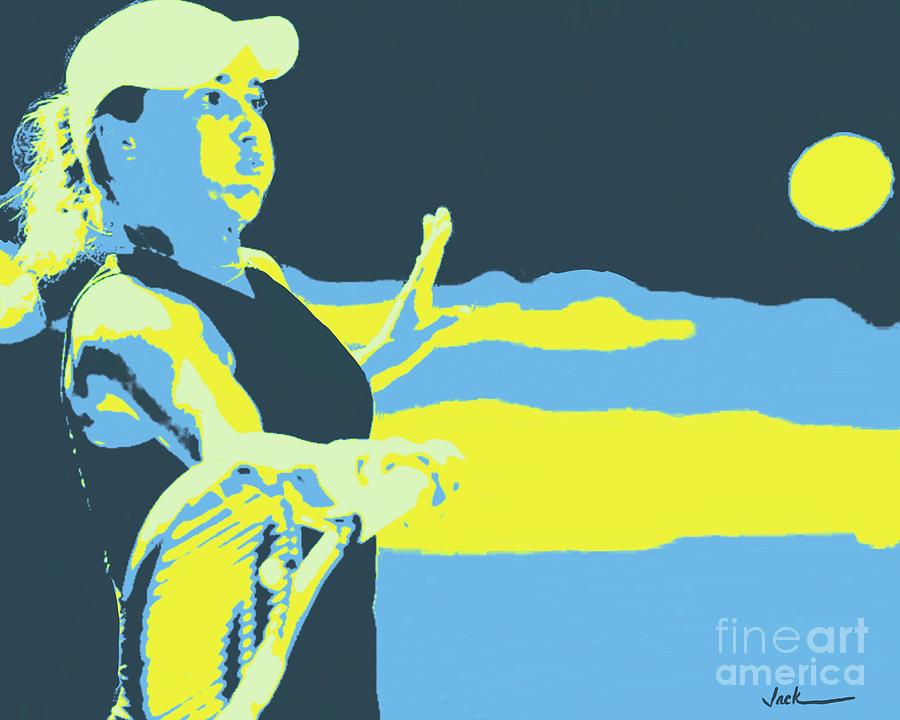 Tennis Painting - Yulia Putintseva  by Jack Bunds