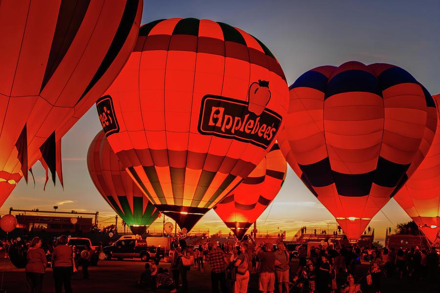 Arizona Photograph - Yuma Balloon Festival Glow-162.jpg by Jack and Darnell Est