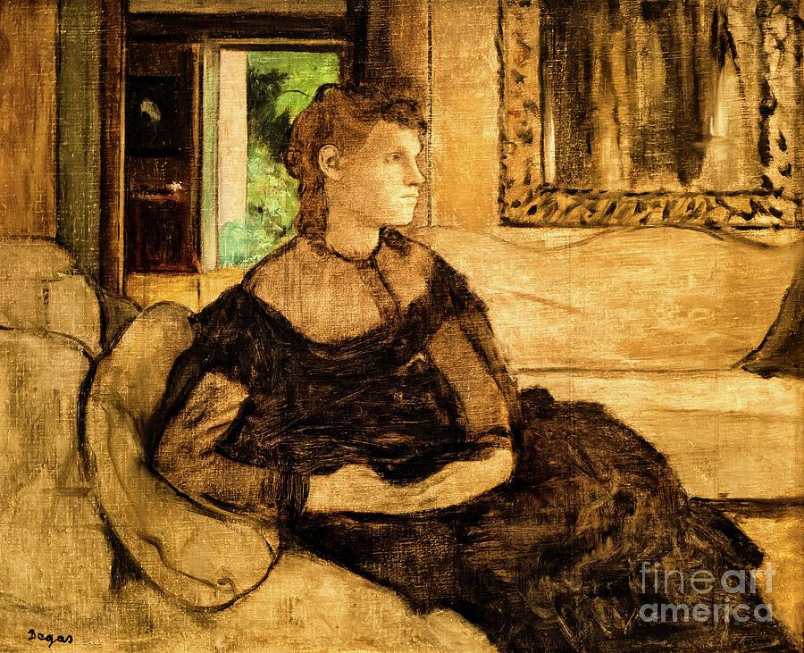 Yves Morisot by Degas by Edgar Degas