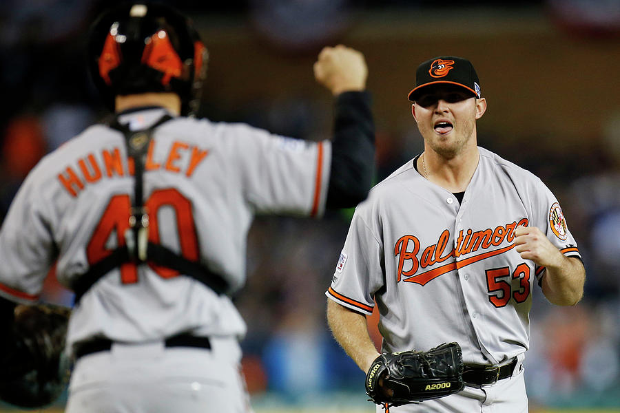 Zach Britton And Nick Hundley Photograph by Gregory Shamus