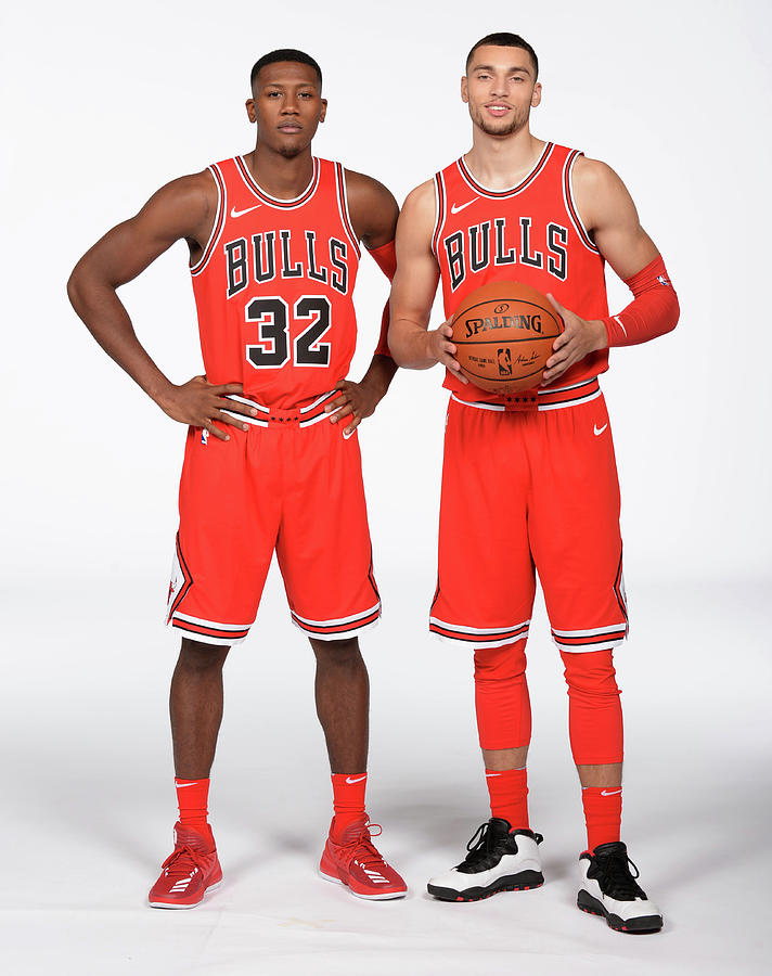 Zach Lavine and Kris Dunn Photograph by Randy Belice