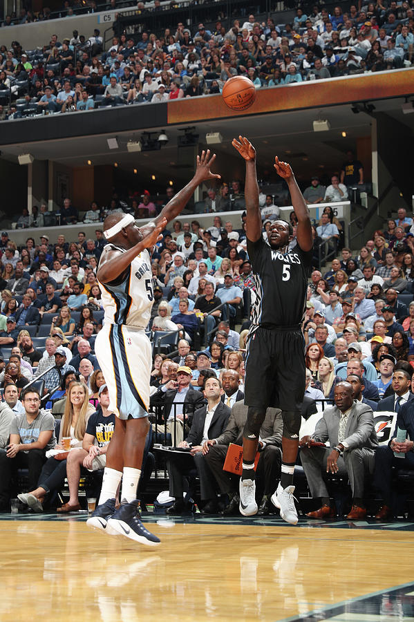 Zach Randolph and Gorgui Dieng Photograph by Joe Murphy