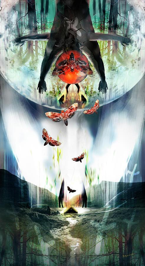 Angel Digital Art - Zain or The Angel of Death by Heather Landry