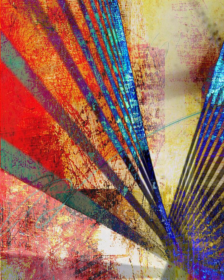 Digital Digital Art - Zakim Bridge by Meredith Gisness