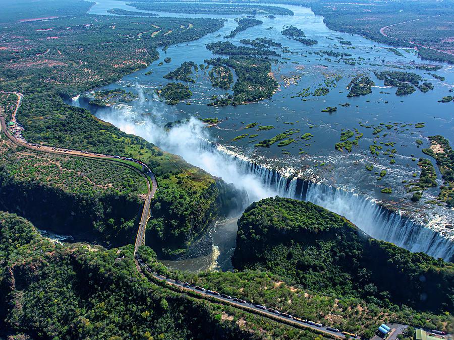 Zambezi River and Victoria Falls by Douglas Wielfaert