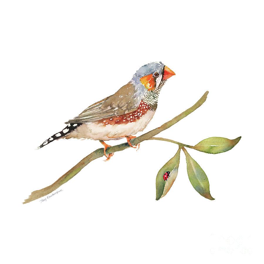 Zebra Finch - Bird Painting
