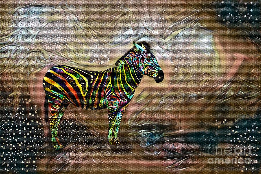 Zebra Photograph - Zebra in Fantasy World by Kaye Menner by Kaye Menner