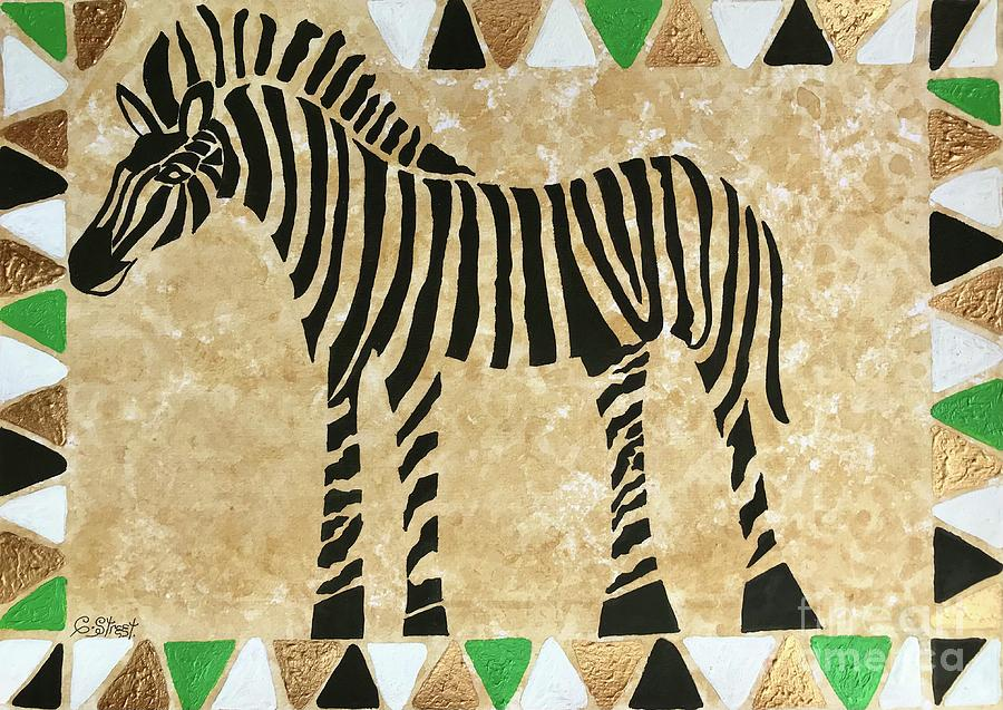 Zebra Stripes And Triangles Painting