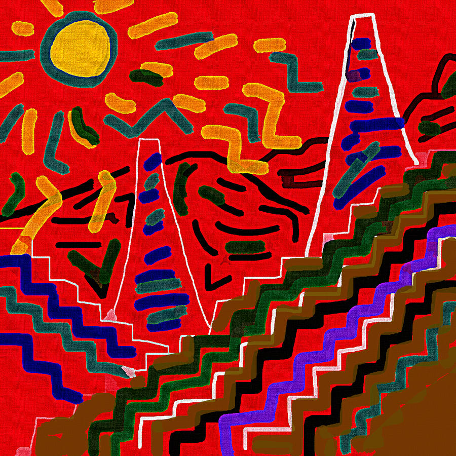 Ziggurats Without Tigers Drawing