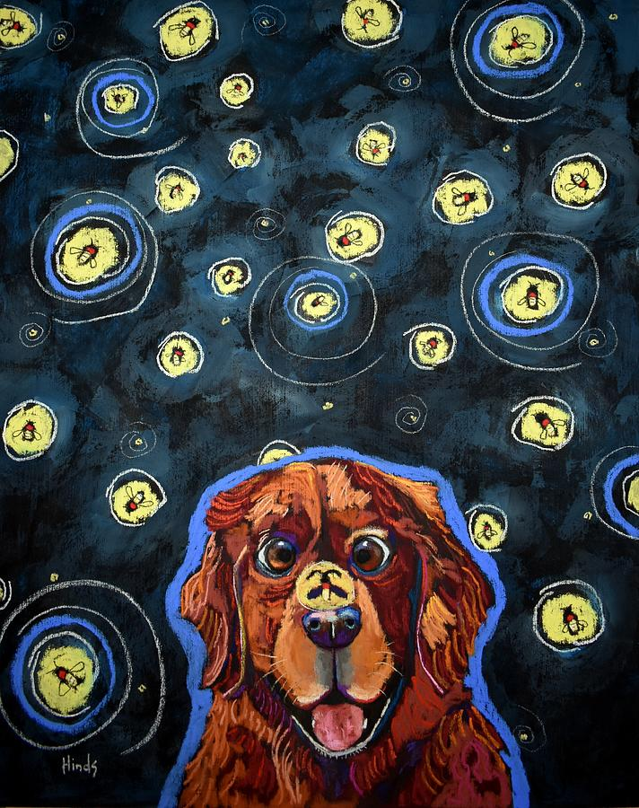 Ziggy And The Fireflies Painting