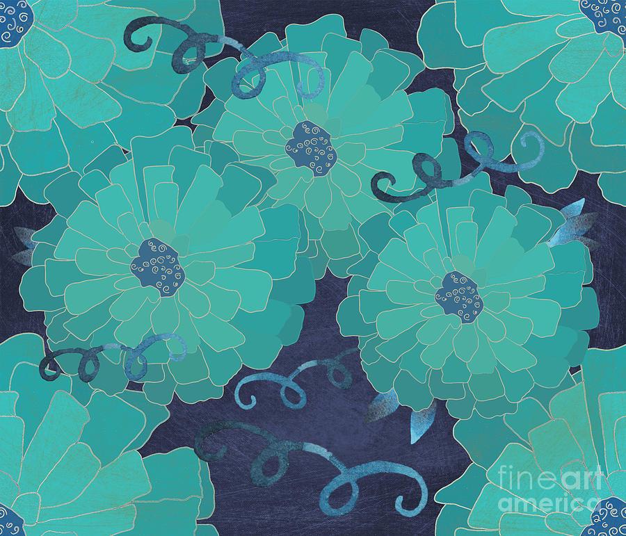 Zinnia Swirl Digital Art