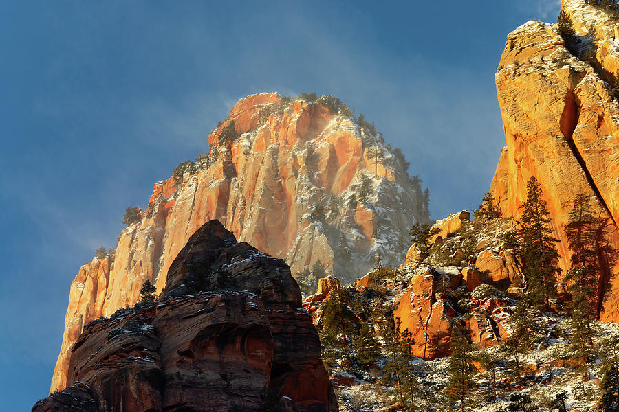 Zion Canyon Abstract Photograph