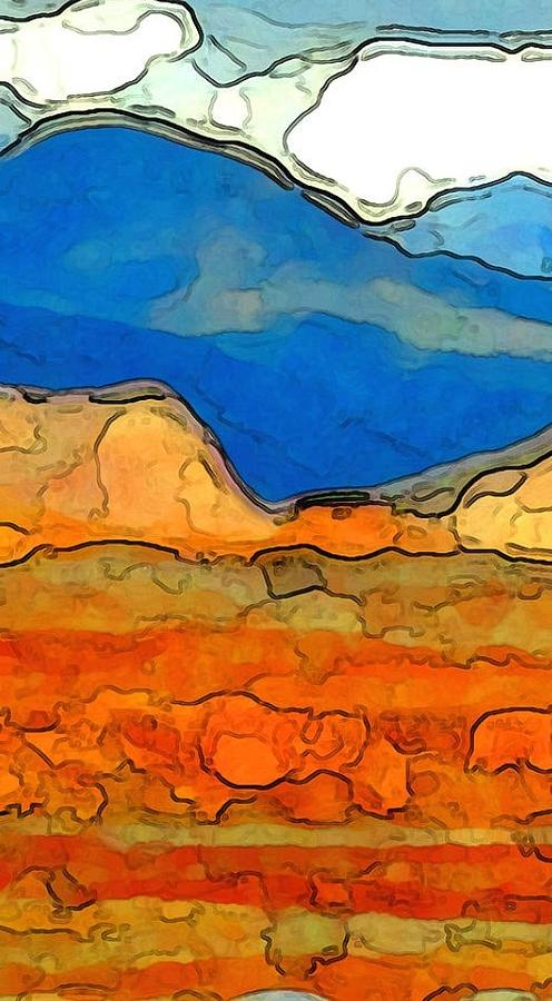 Landscape Digital Art - Zion Exposed Panel One of Three by Linda Mears