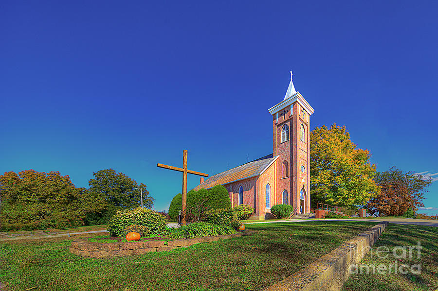 Driving Photograph - Zion Lutheran Church  by Larry Braun