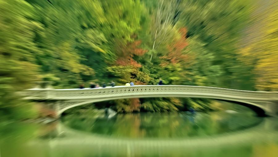 Zoom Into Fall At Central Parks Bow Bridge In New York City Photograph