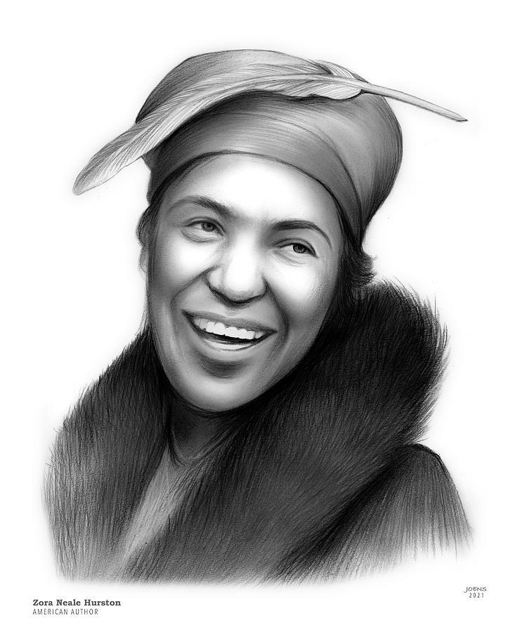 Zora Neale Hurston Drawing - Zora Neale Hurston by Greg Joens