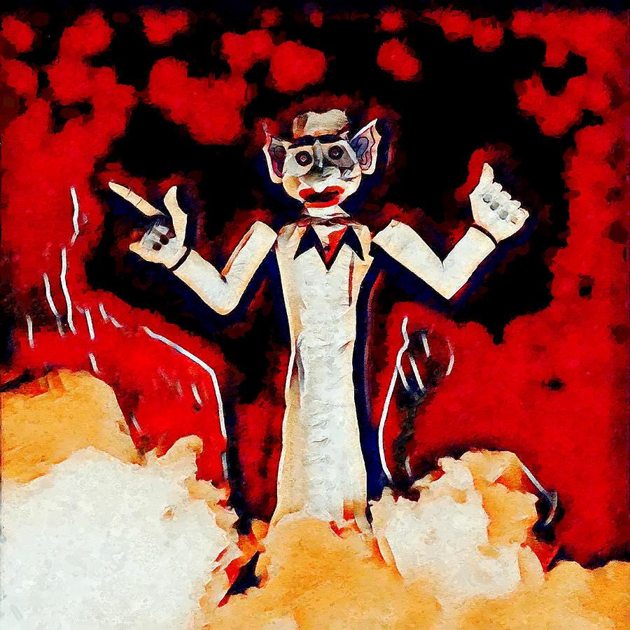 Santa Fe Digital Art - Zozobra Burning by Aerial Santa Fe