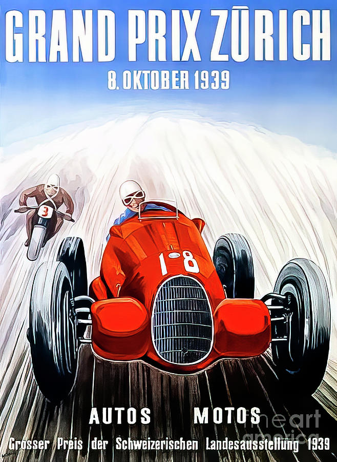 Zurich 1939 Grand Prix Drawing