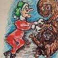 A Elf And Her Dog by Geraldine Myszenski