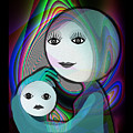 044 - Full Moon  Mother And Child   by Irmgard Schoendorf Welch