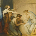A Group Of Female Mourners At The Tomb Of Achilles by Celestial Images