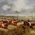 A Steeplechase - Near The Finish by Henry Thomas Alken