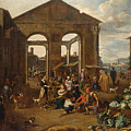 An Italianate Market Scene by Celestial Images