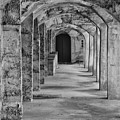 Archway At Moravian Pottery And Tile Works In Black And White by Bill Cannon