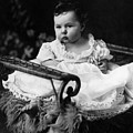 Baby In Chair 1910s Black White Archive Boy Kids by Mark Goebel
