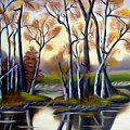 Birch Bay Lagoon Dreamy Mirage by Claude Beaulac