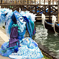 Blue Angel 2015 Carnevale Di Venezia Italia by Sally Rockefeller