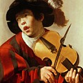 Boy Playing Stringed Instrument And Singing by Hendrick Ter Brugghen